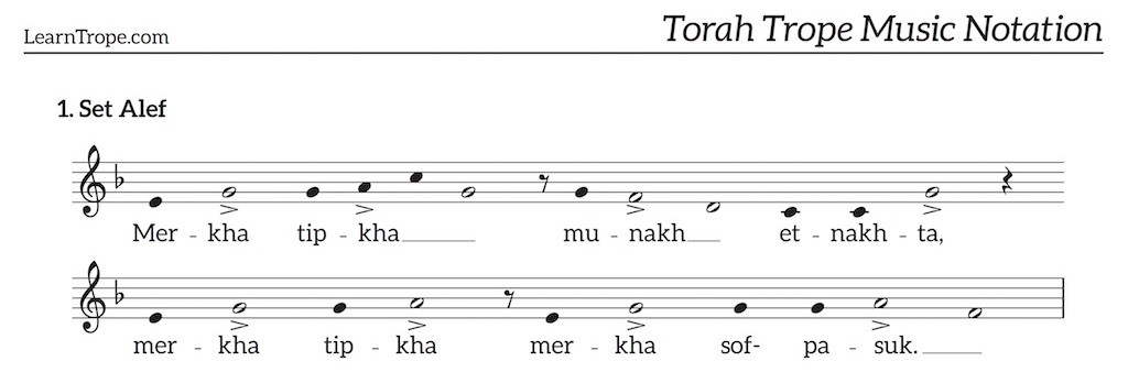 Torah Trope Music Notation